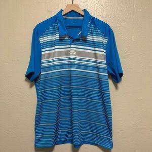 Oakley men's striped golf polo shirt